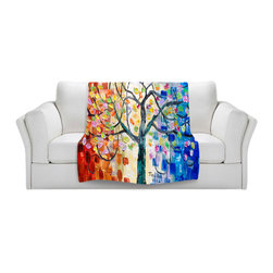 DiaNoche Designs - Throw Blanket Fleece - Surreal Blossom Tree - Original Artwork printed to an ultra soft fleece Blanket for a unique look and feel of your living room couch or bedroom space.  DiaNoche Designs uses images from artists all over the world to create Illuminated art, Canvas Art, Sheets, Pillows, Duvets, Blankets and many other items that you can print to.  Every purchase supports an artist!