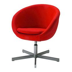 IKEA of Sweden - SKRUVSTA Swivel chair - Swivel chair, Almås red
