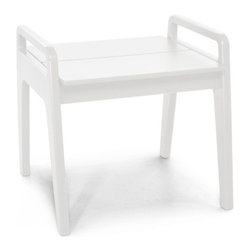 Loll Designs - No. 9 Side Table, Cloud White - Designed by T.J. Thomas and Audra Bielskus of Studio Murmur for Loll. The No.9 Collection is made from 100% post-consumer waste and manufactured by Loll in Duluth, Minn. The No. 9 stays out all night and is up early to greet you for morning coffee or afternoon lollygagging. Ships flat and assembly is a piece of cake.