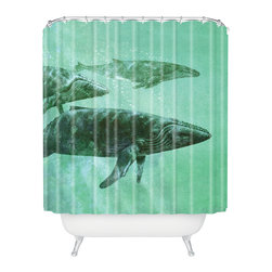 DENY Designs - Terry Fan Pod Shower Curtain - Who says bathrooms can't be fun? To get the most bang for your buck, start with an artistic, inventive shower curtain. We've got endless options that will really make your bathroom pop. Heck, your guests may start spending a little extra time in there because of it!