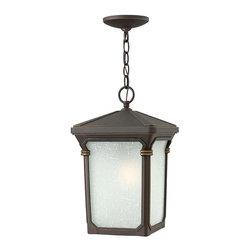 Hinkley Lighting - Hinkley Lighting 1352OZ-GU24 Stratford Bronze Outdoor Hanging Lantern - Hinkley Lighting 1352OZ-GU24 Stratford Bronze Outdoor Hanging Lantern