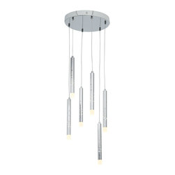 Joshua Marshal - Acrylic Rain 6 Light Multi Light Pendant - Acrylic Rain 6 Light Multi Light Pendant