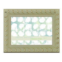 Lightaccents - Home Accents Wooden Picture Frame / Photo Frame 5 x 7 Inches (Gold and Green) - Part of the Fresh Waters Photo Frame Collection