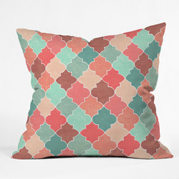 DENY Designs - Jacqueline Maldonado Morocco Pastel Throw Pillow - Wanna transform a serious room into a fun, inviting space? Looking to complete a room full of solids with a unique print? Need to add a pop of color to your dull, lackluster space? Accomplish all of the above with one simple, yet powerful home accessory we like to call the DENY throw pillow collection! Custom printed in the USA for every order.