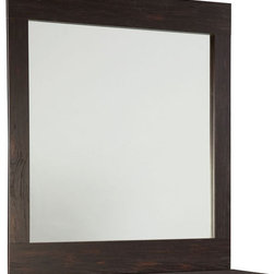 Standard Furniture - Standard Furniture Hideout Rectangular Mirror in Warm Dark - Hideout combines handsome transitional styling with well planned function, great storage options, and the flexibility to create customized room arrangements - all wishes of youth and parents today.