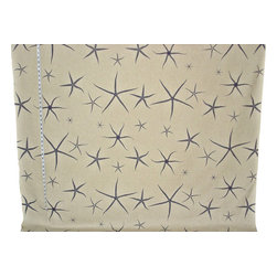 Starfish fabric sea star blue tan oatmeal, Standard Cut - A starfish fabric. A starfish sea star fabric for those that want neutrals. The monochromatic coloring makes a strong statement.