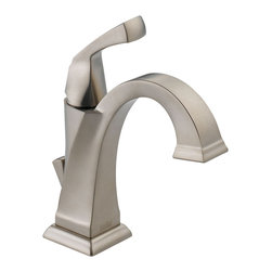 Delta Single Handle Centerset Lavatory Faucet - 551-SS-DST - The clean lines and dramatic geometric forms of the Dryden Bath Collection are based on style cues from the Art Deco period.