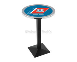 Holland Bar Stool - Holland Bar Stool L217 - Black Wrinkle U.S. Coast Guard Pub Table - L217 - Black Wrinkle U.S. Coast Guard Pub Table  belongs to Military Collection by Holland Bar Stool Made for the ultimate sports fan, impress your buddies with this knockout from Holland Bar Stool. This L217 U.S. Coast Guard table with square base provides a commercial quality piece to for your Man Cave. You can't find a higher quality logo table on the market. The plating grade steel used to build the frame ensures it will withstand the abuse of the rowdiest of friends for years to come. The structure is powder-coated black wrinkle to ensure a rich, sleek, long lasting finish. If you're finishing your bar or game room, do it right with a table from Holland Bar Stool.  Pub Table (1)