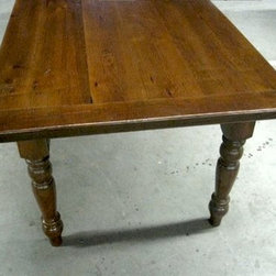 "Old Oak Table With 4"" Breadboard Ends - Made by www.ecustomfinishes.com"