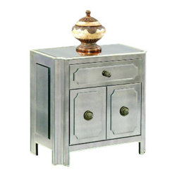 "Basett Mirror - Regency Small Mirrored Chest - Regency Small Mirrored Chest. 30"" x 17"" x 29"" H."