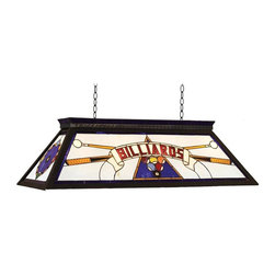 RAM Gameroom - Billards KD Blue Billiard Table Light - Featuring unique designs, top quality materials, hand crafted finishes, and just great fun. Knock down 42 in. billiards fixture. Blue finishThe Ultimate Collection Of Fine Quality Lighting, Signs, Clocks, Wall Art, Fountains, Characters, Accessories, And Outdoor decor - For Your Home, GAMEROOM, Or Backyard.