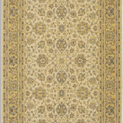 Karastan - Karastan Sierra Mar 35505-33005 (Capri Maize) 8' x 10' Rug - Comfortable, weathered, easy to live with color, is the signature style of the Sierra Mar collection, with relaxed patterns that complement both traditional and modern design. Woven in the U.S.A., the pure New Zealand worsted wool yarns have been specially twisted and space-dyed to create artful color 'stria' reminiscent of fine hand woven 'Peshawar' rugs.