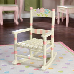 Fantasy Fields - Fantasy Fields Bouquet Slatted Rocking Chair Multicolor - W-5147G - Shop for Childrens Rocking Chairs from Hayneedle.com! Teamson Design Bouquet Childs Slatted Rocking Chair This cute little rocker will become your little girls favorite spot to relax and play. The slatted seat design is just like grown-ups rockers. The antique white and bouquet of flowers design is a nice country look. Wood construction is sturdy enough to withstand the most rambunctious toddlers. Attractive rocking chair for any room.