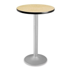 OFM - OFM 24 Round Folding Cafe Table, Oak - OFM CFT24RD 24 round table looks elegant in both lunch and meeting rooms and looks great with the new Star and Moon series chairs. The banding makes the edges smooth and gives it a finished appearance.