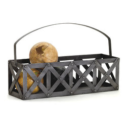 Go Home - Go Home Transporteur De Vin - Furnish your garden area with the stylish addition of Transporteur De Vin. This wonderful accent from Vintage Chic Home is manufactured from steel and completed with a hand rubbed finish. The natural finish of this French country chic collection serves as both functional as well as decorative accessory. You can keep fruits or any other thing within this basket. This cool basket has nailed finishing that makes it simply perfect for any garden area. It is quite lightweight that is responsible for the ease of portability. It is rust resistant, hence, offers much more durability.
