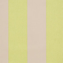 Romosa Wallcoverings - Citrus Green / Gray Awning Stripe Carnival Wallpaper - - This is a non woven wallpaper. Easy to hang.