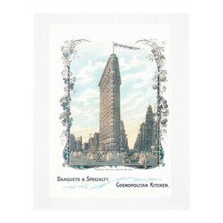 "Cool Culinaria - Flat Iron New York 1905 Vintage Menu Art Print, 11x14"" - Cool Culinaria Ultimate Giclee Prints on 300-315 GSM Archival Art Paper."