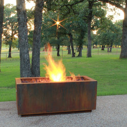 "Fire Pits - Great for Fall and Winter - The Bentintoshape 48"" x 20"" Rectangular Fire Pit is constructed with 11 Gauge Cor-Ten Steel for maximum durability and rustic antique appearance. Cor-Ten, also known as Weathering Steel, is a steel alloy which was developed to eliminate the need for painting and form a stable rust-like appearance when exposed to the weather. The overall outside dimensions of the Fire Pit are 48"" long x 20"" deep x 20"" tall. The fire bowl opening dimensions are 42"" long x 18"" deep x 4"" tall."