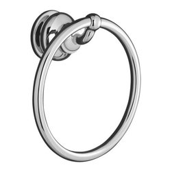 """KOHLER - KOHLER K-12165-CP Fairfax Small Towel Ring in Chrome - KOHLER K-12165-CP Fairfax Small Towel Ring in ChromeThis Fairfax towel ring coordinates with Fairfax faucets and helps create a timeless appeal appropriate for any installation - master bath, powder room or guest bath.KOHLER K-12165-CP Fairfax Small Towel Ring in Chrome, Features:• 7-1/4""""W x 3-1/4""""D x 7-5/16""""H"""