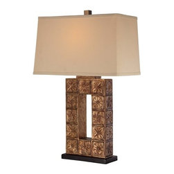 Ambience - Ambience 13025-0 1 Light Cream Linen Table Lamp - Features: