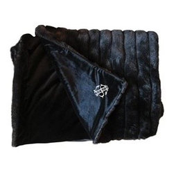 Monogrammed Faux Fur Throw Blanket - A fur throw at the foot of the bed seems both glamorous and practical all at once. This throw also has a monogram option, making it an extra thoughtful gift too.