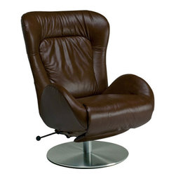 Lafer - Lafer Amy Recliner Chair, Mocha - Amy Recliner Chair is beautifully upholstered with leather and executive styling. Amy Recliner Chair offers ergonomic and generous spacing with adjustable features. Amy chair has a height adjustable base to fit everyone's needs.
