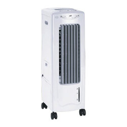 Sunpentown - Evaporative Air Cooler with Ionizer - This Evaporative Air Cooler, Humidifier, and Fan is versatile, lightweight and economical. The Cooler easily rolls from room to room for use anywhere in your house or office. This Air Cooler shoots a stream of air with oscillating louvers, to evenly distribute refreshing cool air. Can also be used as a fan or humidifier if temperature is not an issue. - plus get the air cleaning benefits of the ionic air purifier. The remote control allows you to easily change settings.