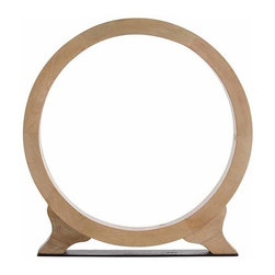 "Arteriors - Arteriors Home - Cody Small Ring Sculpture - 2587 - Striking ring sculpture made from waxed wood with natural finish on an iron base. Features: Cody Collection Small Ring SculptureNatural finish. Some Assembly Required. Dimensions: W 24"" x 3"" Dia x H 25 1/2"""