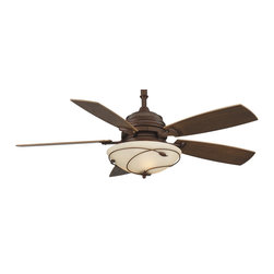 "Fanimation - Fanimation 54"" Hubbardton Forge Standard Leaf Non-Uplight Ceiling Fan X-HM0026FH - Lamping: Downlight: (3) 40W candelabra base (E12) (included)."