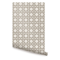 Geometric Grey - Geometric peel & stick fabric wallpaper. This re-positionable wallpaper is designed and made in our studios in New Jersey. The designs are printed onto an adhesive backed fabric that can be removed, repositioned and reused over and over again. They do not leave any residue on your walls and are ideal for DIY room makeovers without the mess and headaches of traditional wallpaper.