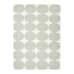Twister Dot Floor Rug - The 100% wool and reversible Twister Dot Floor Rug instantly adds style and warmth to whatever room you place it in. This rug goes well no matter where you place it in the kids' room. Its durable, flat-weave style is dirt and stain resistant and any spills can easily be blotted with mild soap and cold water.