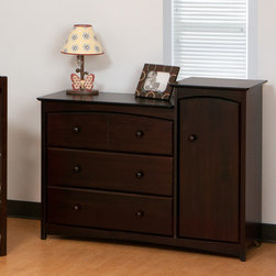 Storkcraft - Beatrice 3-Drawer Combo Tower - The perfect way to add extra storage space in your nursery without additional furniture! This gorgeous Beatrice Combo Tower features three spacious drawers and an oversized drawer ideal for storing larger baby items, such as towels and blankets. Shipped with anti-tipping harder which allows this combo cabinet to be anchored to the wall, this chest is not only functional but also designed with safety in mind. Available in four luxurious, non-toxic finishes, this combo cabinet is a must-have for a nursery. Features: -Solid wood top, sides and drawer.-Solid wood handles.-Drawers with steel glides and safety stoppers.-Shipped with anti-tipping hardware.-Can be anchored to a wall to prevent accidents.-Ready to assemble.-Espresso finish.-High quality, non-toxic finishes.-***Please Note***: These products cannot be shipped to Alaska, Puerto Rico or Hawaii. We apologize for the inconvenience - feel free to call us regarding alternatives!.-Collection: Beatrice.-Distressed: No.Dimensions: -Overall Product Weight: 115 lbs.