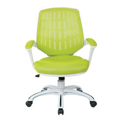 Ave Six - Calvin Office Chair, Green - The Calvin Office Chair is an ergonomic mesh-back design by Ave Six of Office Star.  Available in 4 distinct colors, this product ships direct in about 24 hours.