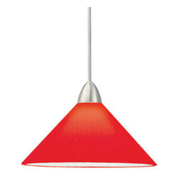 WAC Lighting - WAC Lighting MP-512-RD Low Voltage Jill Monopoint Pendant with Red Glass - Canop - WAC Lighting MP-512 Low Voltage Monopoint Jill PendantThe colorful designer look of hand blown, cased glass pendants etched in an assortment of candy colors.�Features: