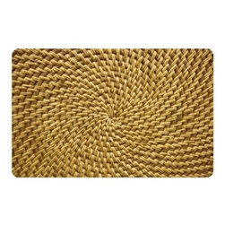 Bungalow Flooring Multicolor Neoprene Radial Weave Doormat - This neoprene doormat may look a bit trippy at first glance. However, a closer look will reveal incredible workmanship and a touch of whimsy.
