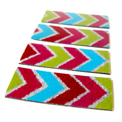 Pretty Little Things - Aztec Tape Magnets Set of 4 - Give your space some flavor with these spicy colors!