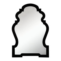 Cooper Classics - Harrison Wall Mirror - Made from polyurethane. Glossy black finish. Interior: 22.25 in. W x 33 in. H. Overall: 26 in. W x 37.5 in. H