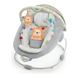 Taggies Soft n Snug Bouncer - Snuggle Spots - Let your baby feel safe and relaxed in the Taggies Soft n Snug Bouncer - Snuggle Spots. This bouncer offers a plush cradling seat paired with a soothing vibration that calms and comforts your child. Its seven melodies and volume control lull your child while overhead plush toys keep hands and eyes busy. A cute little lion adorns a three-point safety harness. Its seat offers a two-position option for maximum versatility and relaxation.About Taggies and Kids IITaggies is part of the Kids II family. Kids II was founded in 1969 when a grandmother came up with a great idea to keep infants from slipping in the bathtub. Since then, Kids II has been inventing ingenious solutions and brands for today's families. Do you know the secret of Taggies? Taggies knows that babies are inherently attracted to texture and tags. They crave sensory experiences from birth because babies learn through their senses. All Taggies tags are made of satin to look cute and satisfy baby's need for tactile stimulation.