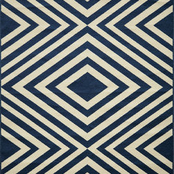 """Momeni - Momeni Baja BAJ-8 (Navy) 7'10"""" x 10'10"""" Rug - This Machine Made rug would make a great addition to any room in the house. The plush feel and durability of this rug will make it a must for your home. Free Shipping - Quick Delivery - Satisfaction Guaranteed"""