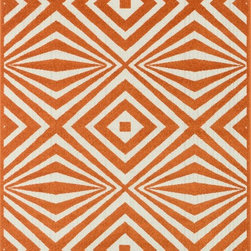 """Loloi - Loloi Catalina HCF-04 (Orange, Ivory) 9'2"""" x 12'1"""" Rug - This Machine Made rug would make a great addition to any room in the house. The plush feel and durability of this rug will make it a must for your home. Free Shipping - Quick Delivery - Satisfaction Guaranteed"""