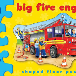 "The Original Toy Company - The Original Toy Company Kids Children Play Big Fire Engine - See the jolly firefighters getting ready for action by piecing together this big red fire engine. Ages - 3-6 years. Puzzle Size- 20.5""x 16.5"" 20 pieces. Made in England."