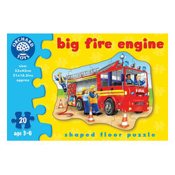 """The Original Toy Company - The Original Toy Company Kids Children Play Big Fire Engine - See the jolly firefighters getting ready for action by piecing together this big red fire engine. Ages - 3-6 years. Puzzle Size- 20.5""""x 16.5"""" 20 pieces. Made in England."""