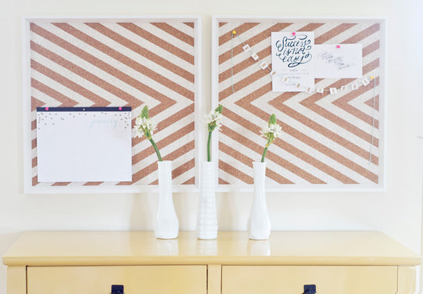 Ikea Frames to Chevron Cork Board