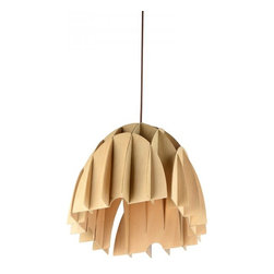 ParrotUncle - Natural Color Wood Assembled Dome Shade Dining Room Pendant - Natural Color Wood Assembled Dome Shade Dining Room Pendant