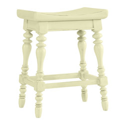 Stanley Furniture - Coastal Living Cottage 5 O'Clock Somewhere Counter Stool - Island-inspired details like double-lathed legs and an arched poplar seat make this stool anything but ordinary. Made to order in America.