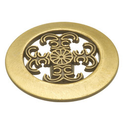Hickory Hardware - Hickory Hardware 1-1/2 In. Cavalier Antique Brass Cabinet Knob - Classic lines, finishes and styles create a warm and comforting feel.  Usually 18th-century English, 19th-century neoclassic, French country and British Colonial revival.  Use of classic styling and symmetry creates a calm orderly look.