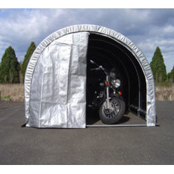 "Jewett-Cameron Companies - Storage Solutions Round Top Shelter, 8'L x 8'W x 6'6""H - Storage Solutions Round Top Garages"
