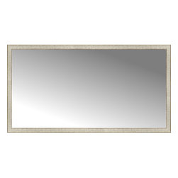 """Posters 2 Prints, LLC - 71"""" x 38"""" Libretto Antique Silver Custom Framed Mirror - 71"""" x 38"""" Custom Framed Mirror made by Posters 2 Prints. Standard glass with unrivaled selection of crafted mirror frames.  Protected with category II safety backing to keep glass fragments together should the mirror be accidentally broken.  Safe arrival guaranteed.  Made in the United States of America"""