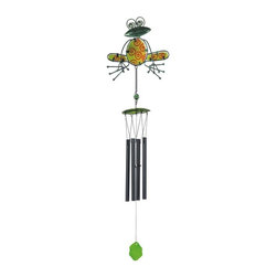 GSC - 32 Inch Green Frog with Red Circles Glass Wind Chime - This gorgeous 32 Inch Green Frog with Red Circles Glass Wind Chime has the finest details and highest quality you will find anywhere! 32 Inch Green Frog with Red Circles Glass Wind Chime is truly remarkable.