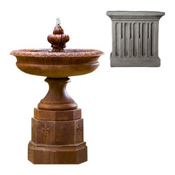 Campania International - Fontainbleu Fountain - Greystone (GS) - 657 lbs. Shipping is available throughout the continental United States. As these fountains are made to order,_please allow 4 to 6 weeks for delivery. Drop ship is curbside delivery only.